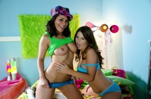 Charley Chase and Allison Moore Play With Each Others Big Boobs