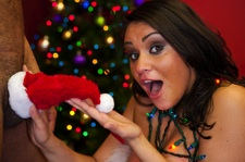 Charley Chase gets what she wants for Xmas:   Some Xmas Cock!