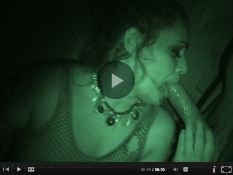 Charley Chase fucks a black guy in the bathroom using night vision.